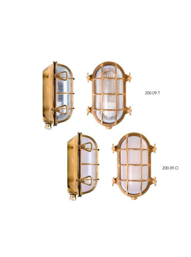 applique Moretti luce laiton brut 200.09