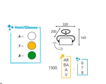 dimension lampe Moretti Luce-1500