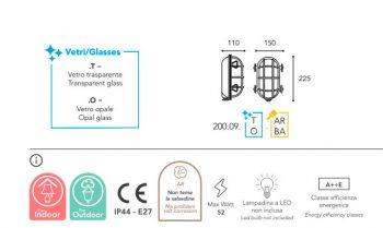 applique Moretti luce laiton brut dimension 200.09