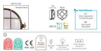 applique Moretti luce laiton brut dimension-200.10