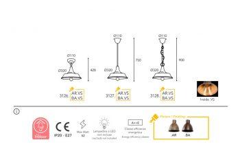 lampe Moretti Luce dimension atelier 3126-3128
