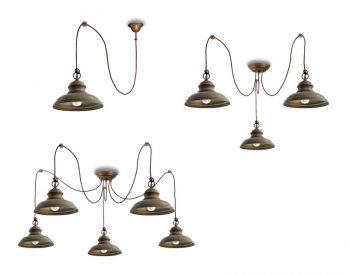 lampe moretti luce mill 1780-3L-5L