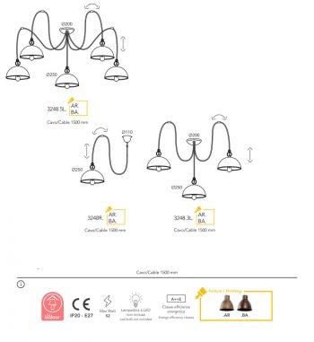 suspension Moretti Luce finition-circle 3248