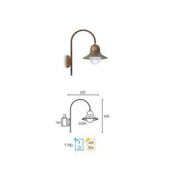 lampe moretti luce dimension 1790-T-AR