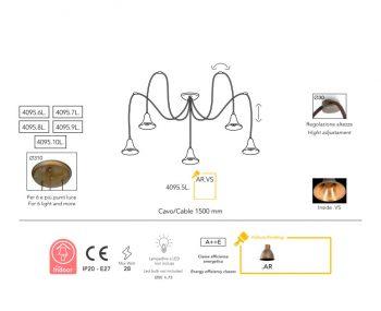 suspension Moretti Luce Lily dimension-4095.5L.AR-VS
