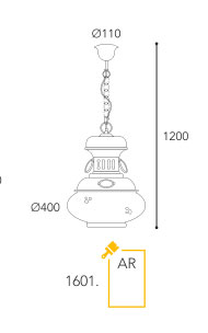Dimension suspension Moretti Luce 1601-AR