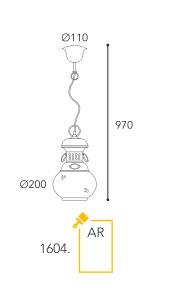 Dimension suspension Moretti Luce 1604-AR